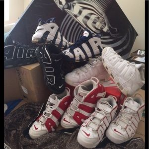 Nike UPTEMPOS.  Different sizes.Mostly. 9-10.5